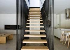 barandas de escaleras lineales