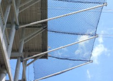 safety 25N1-horizontal-perimeter-netting-with-cantilevered-outrigger-poles